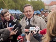 Bartlomiej Sienkiewicz, ministro del polacco dell'interno Immagini Stock