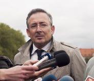 Bartlomiej Sienkiewicz, ministro del polacco dell'interno Fotografia Stock Libera da Diritti