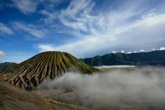 Bartok Volcano and the mist. Java island , Indonesia royalty free stock photos