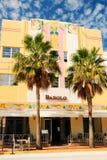 Bartolo Restaurant, un diseño de Art Deco en la playa del sur, Miami Fotos de archivo libres de regalías