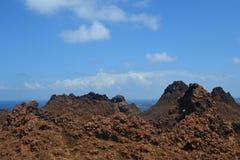 从Bartolome海岛的看法 库存照片