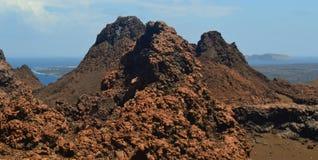 从Bartolome海岛的看法 免版税库存照片