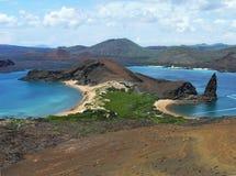 Bartolome wyspy plaże, Galapagos archipelag, Ekwador obrazy royalty free