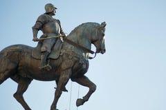 Bartolomeo Colleoni, italian soldier in Venice. Bartolomeo Colleoni, italian soldier, equestrian monument in Venice Royalty Free Stock Photo