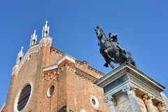 Bartolomeo Colleoni monument Stock Images