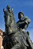 Bartolomeo Colleoni monument, great condottiero of Renaissance. Detail from the equestrian bronze statue of Bartolomeo Colleoni, a powerful italian condottiero ( royalty free stock images