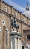 Bartolomeo Colleoni Monument in Venice, Italy. VENICE, ITALY: Bartolomeo Colleoni Monument in Campo Santi Giovanni e Paolo square Royalty Free Stock Photo