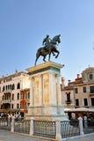 Bartolomeo Colleoni monument. VENIVE - SEP 25, 2014: The equestrian statue (1488) of Bartolomeo Colleoni by Verrocchio in Venice. Campo Santi Giovanni e Paolo a Stock Photography