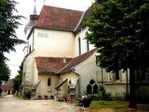 Bartolomeu (Bartalomoe, Barthlomew) a enrichi l'église, saxon, Roumanie Images stock