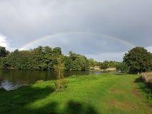 Barton marina rainbow stock photos