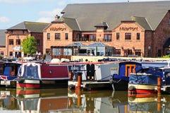 Barton Marina waterfront. Royalty Free Stock Image