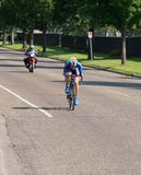 Barton Races Toward Finish at Time Trial Stock Image