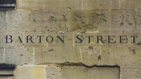 Barton Street Carved na pedra imagens de stock