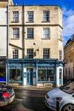 Barton Street Wine Bar in Georgian building in Barton Street, Bath, Somerset, UK royalty free stock image