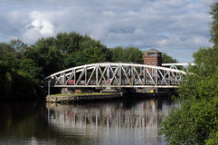 Barton Swing Bridge Royaltyfria Bilder