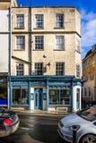 Barton wina Uliczny bar w Gruzińskim budynku w Barton ulicie, skąpanie, Somerset, UK obraz royalty free