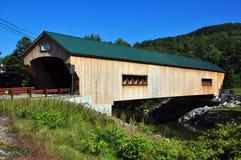 Bartponsville, VT :Bartonsville被遮盖的桥 库存图片