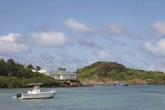 盛大死路海湾在圣Barts,法属西印度群岛 免版税库存图片