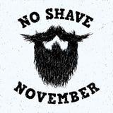 Bartschattenbild ohne Rasur-November-Beschriftungsdruck Lizenzfreie Stockfotografie