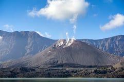 Barujari mount in segara anak lake Stock Image