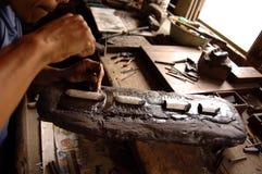 barukotamalaysia silversmith Arkivbild