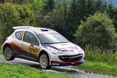 Barum Rally driver Bouffier B. Royalty Free Stock Photography