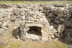 BARUMINI, Sardinien, Italien - 23. Februar 2019: Die Ruinen von SU Nuraxi nahe Barumini in Sardinien lizenzfreie stockfotos