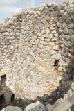 BARUMINI, Sardinige, Italië - Februari 23, 2019: De ruïnes van Su Nuraxi dichtbij Barumini in Sardinige stock foto