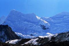 baruntse喜马拉雅山 库存图片