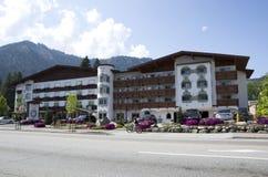 Barvarian brengt de Duitse stad van Leavenworth onder Stock Fotografie