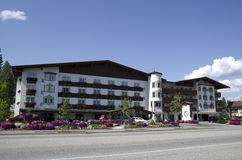 Barvarian Lodge Leavenworth German town Stock Image