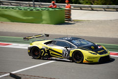 Barwell Motorsport Lamborghini Huracan GT3 at Monza. The Autodromo Nazionale Monza hosted the first endurance race of 2017 Blancpain GT Series Royalty Free Stock Images