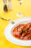 barweny pieprzowego czerwieni soli owoce morza pomidorowy wino Obraz Stock