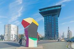 Barwiąca rzeźby kubiczna rzeźba w Erasmuburg okręgu Obrazy Stock