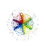 barwiący abstrakcjonistyczny okrąg Zdjęcie Royalty Free