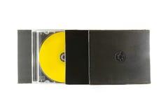 Barwiący muzykalni cd dyski na białym tle Zdjęcia Stock