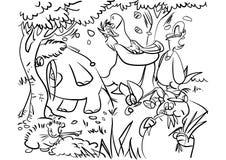 Barwiący strony ` serii Zwierzęcy ` obraz royalty free