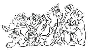 Barwiący strony ` serii Zwierzęcy ` Fotografia Stock
