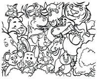 Barwiący strony ` serii Zwierzęcy ` Obraz Stock