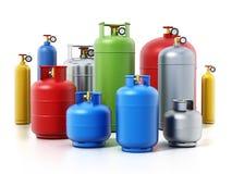 Barwić benzynowe butle odizolowywać na białym tle ilustracja 3 d Obrazy Stock