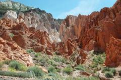 barwić góry blisko Uquia zdjęcie stock