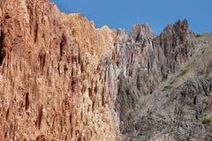 barwić góry blisko Uquia fotografia stock