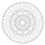 Barwić Geometrycznego Falowego ornament ilustracja wektor