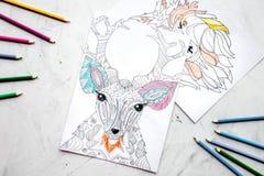 Barwić obrazek dla dorosłych na kamiennego tła odgórnym widoku Obraz Royalty Free