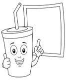 Barwić Papierowego Sodowanego napój z Blackboard ilustracji