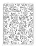 Barwić stronę dla dorosłych lub czarny i biały ornamentacyjny tło, royalty ilustracja