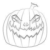 Barwić stronę dla dzieciaków z Halloweenową złą banią Fotografia Stock