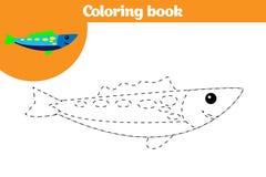 Barwić stronę, edukaci gra dla dzieci Barwiący stronę, rysuje dzieciak aktywność również zwrócić corel ilustracji wektora ilustracja wektor