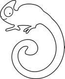 Barwić stronę Kameleon z długo wirować ogon Zdjęcie Royalty Free