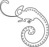 Barwić stronę Kameleon z klejenie jęzorem out Zdjęcie Royalty Free